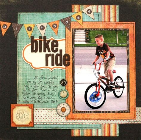 scrapbook layout cycling tamara jensen love this line layouts pinterest