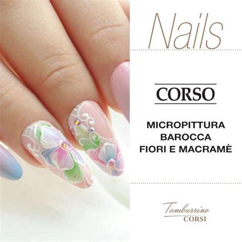 nail acrilico fiori nail micropittura acrilico nailarts ideas