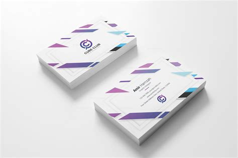 cube business card template cube club business card design template 001790 template