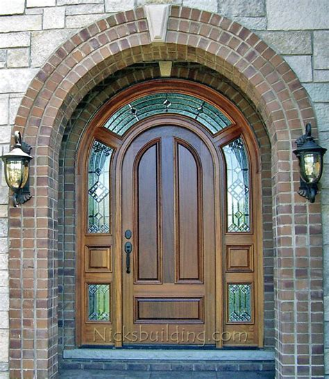 arch top exterior doors arched top exterior doors with surround model 3003