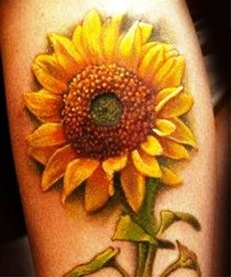 realistic sunflower tattoo 25 beautiful realistic sunflower tattoos