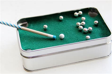 diy mini pool table diy gift for mini pool table in a tin crafts unleashed
