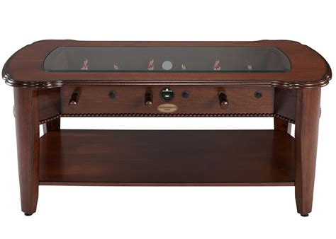 the maxwell 2 in 1 foosball coffee table in mahogany by