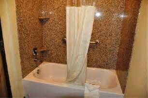 one bathtub shower combination kitchen bath