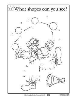 Clown Worksheets by 1000 Images About Pre K Circus Theme Crafts Worksheets On