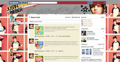 facebook themes and skins justin bieber theme for facebook justin bieber justin bieber fan art