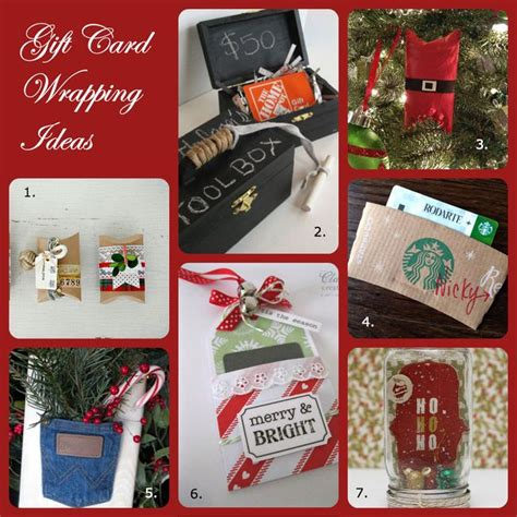 Creative Way To Wrap Gift Cards - 7 creative ways to wrap gift cards christmas gift ideas pinterest