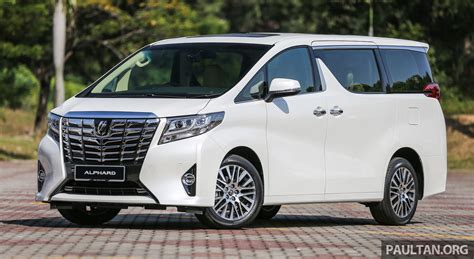 Toyota Alphard 2016 2016 Toyota Alphard And Vellfire Launched In M Sia