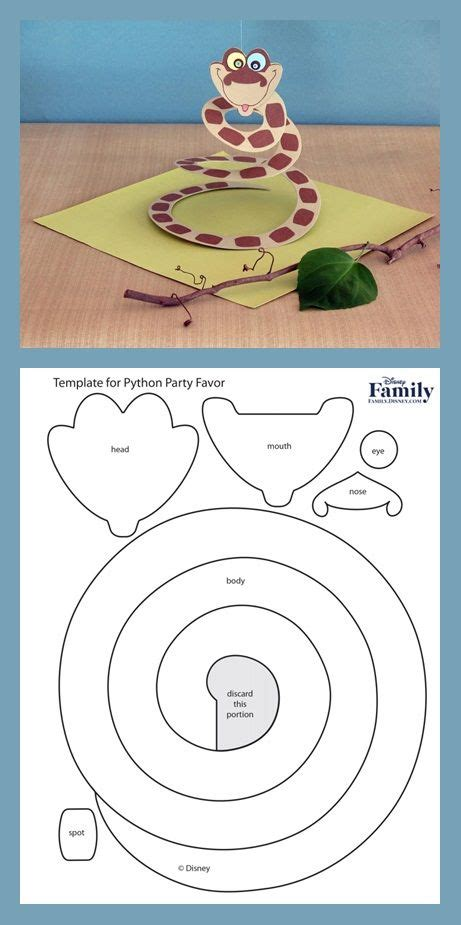 paper snake template jungle book python jungle and snakes