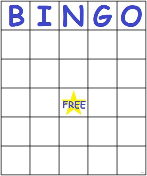 Large Card Template Printable by Bingo Card Template Necessary Pics Large Printable Blank
