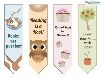 nice printable bookmarks printable bookmarks for kids lovetoknow