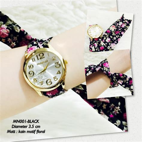 Jam Tangan Geneva Flower Kecil Gj1648 6 jual jam tangan kain bandana monol guess geneva batik