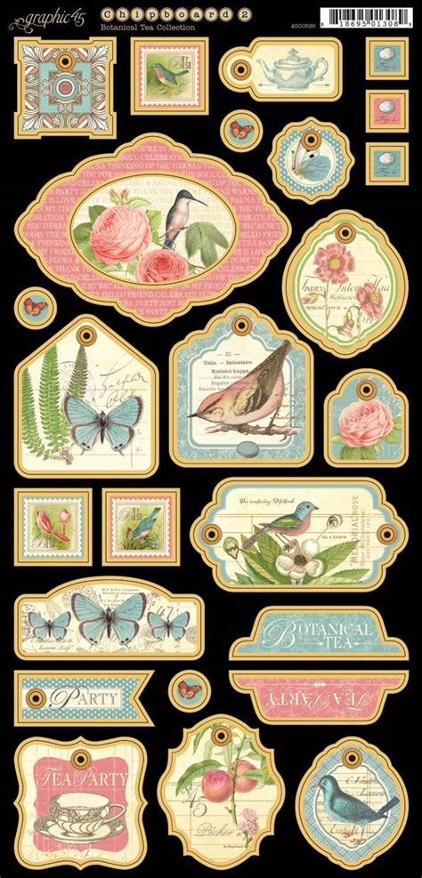graphic 45 rubber sts graphic 45 botanical tea chipboard tags 2 the rubber