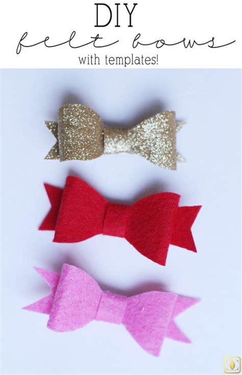 felt ribbon pattern diy felt hair bows style your senses