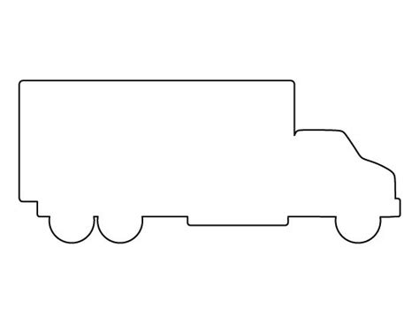 Truck Outline by Truck Pattern Use The Printable Outline For Crafts Creating Stencils Scrapbooking And More