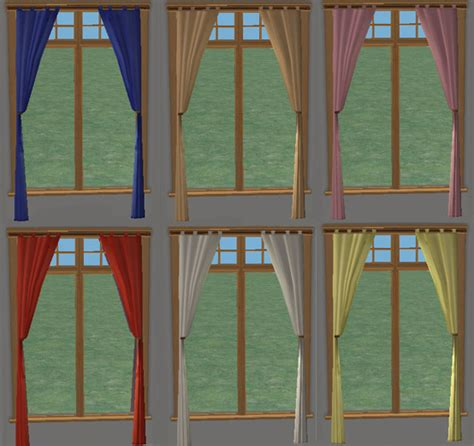 drapery loft mod the sims loft curtains 6 recolours
