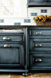 what color to paint kitchen cabinets with black appliances navy kitchen cabinet paint color home bunch interior