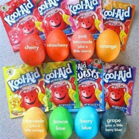 kool aid colors kool aid egg dye easter he is risen