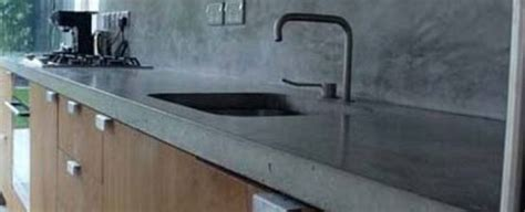 Kitchen With Black Cabinets Polished Concrete Worktops Cheap Polished Concrete