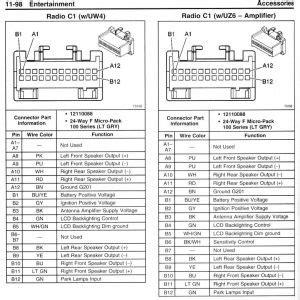 chevy tahoe radio wiring diagram  wiring diagram