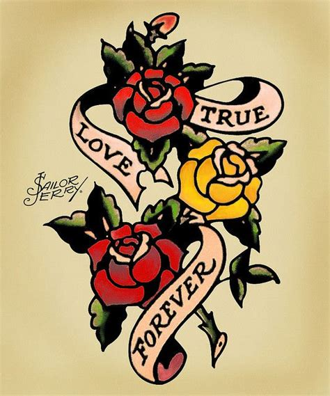 rose tattoo sailor jerry sailor jerry forever roses flash kysa ink