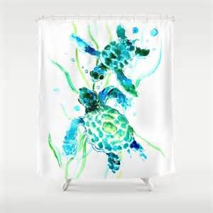 sea turtle shower curtain by surenart from society6 things i
