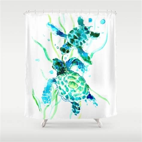 turtle shower curtains bath accessory sets sea turtle shower curtain by surenart from society6 things i