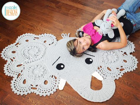 Crochet Elephant Rug by Josefina And Jeffery Elephant Rug Pdf Crochet Pattern
