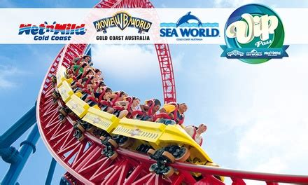 theme park qld vip pass village roadshow theme parks in main beach qld groupon