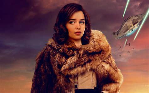 qira solo  star wars story emilia clarke  wallpapers