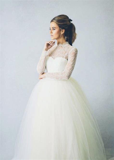 long sleeve wedding dresses  fall  winter