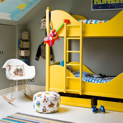 yellow kids bedroom grey kids room with yellow bunk bed grey and yellow