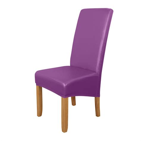 dystyle extra large pu stretch short dining room chair
