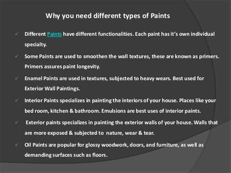 Interior Paint Types by Paints Home Painting Wall Painting Interior Exterior
