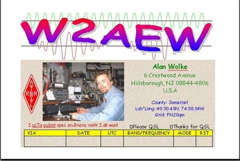 make your own qsl cards qslpage