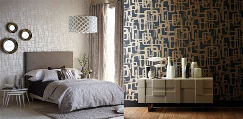 Modern Chic Home Decor momentum wallpapers vol 3 from harlequin