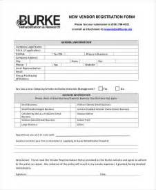 new vendor template registration form templates