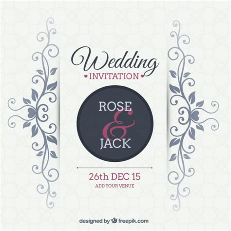 Wedding Invitation Letter Vector Free Ornamental Wedding Invitation Vector Free