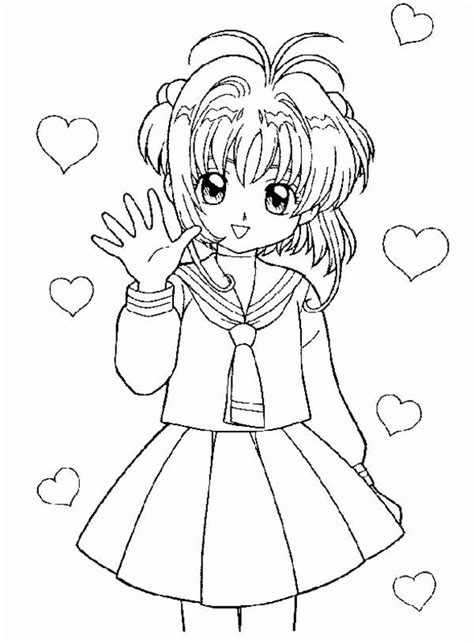 sakura card captor coloring page coloring home