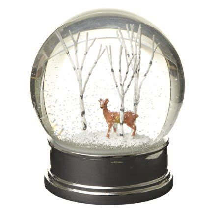 winter scene snow globes gac020 snow globe with winter deer 22832 snowglobes gainsborough