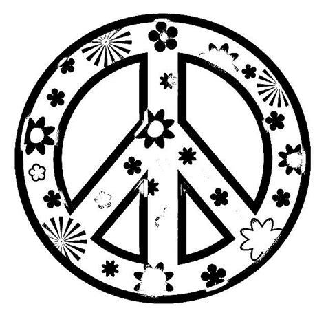 Peace Sign Coloring Printable Peace Sign Coloring Peace Sign With Color On Inside
