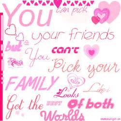 Quote friends and family