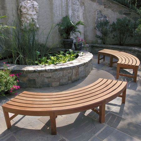 curved fire pit bench curved backless bench back yard pinterest