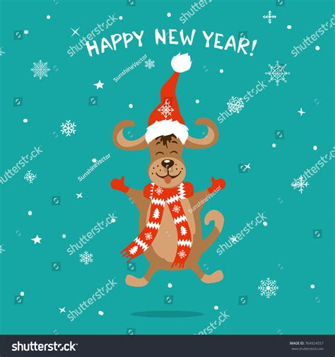 new year 2018 animal images happy new year 2018 merry stock vector 764924557