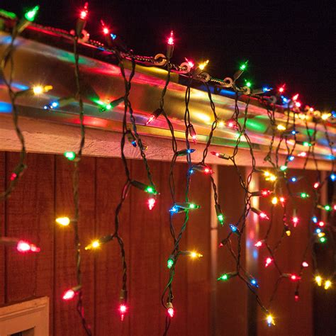 red green mini christmas lights christmas icicle light 150 multi red green pink blue
