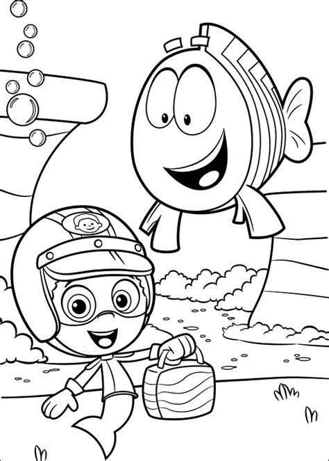 Bubble Guppies Coloring Pages Best Coloring Pages For Kids Free Guppies Coloring Pages