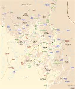 where is sedona arizona on the map map of sedona arizona