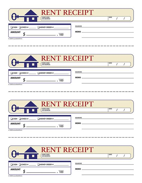 rent receipt forms rent receipt receipt rent receipt template