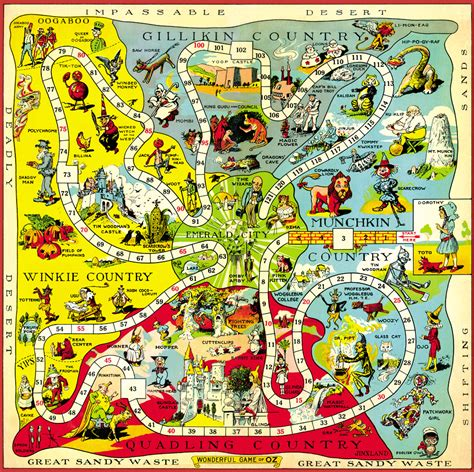 map themed games hungry tiger talk map of oz monday the 1921 game board map