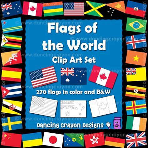 flags of the world by colour world flags clipart color and black and white line art
